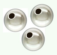 4pcs round solid 925 high polished Sterling Silver Seamless Bead Spacer 12mm S52