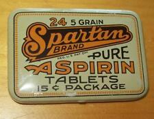 Old Advertising Aspirin Tin Spartan Brand Southern Chemical Co Petersburg VA