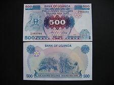 UGANDA  500 Shillings 1986  (P25)  UNC