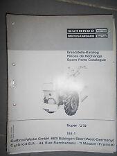 Motostandard motoculteur Super U72 caractéristiques technique & catalogue pièces