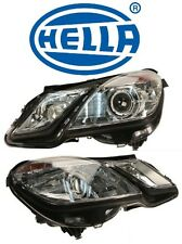NEW Mercedes W207 Set Of Driver & Passenger Headlight Assembly Xenon OEM HELLA