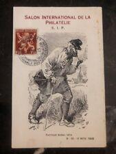 1946 Bruxelles Belgium Postcard Cover Rural Mail Carrier Philatelic Exhibition