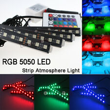4X RGB Color Bar Glow Dash Footwell Interior Light 5050 LED Strip SMD  For Dodge
