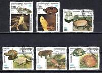 Animales Tortugas Camboya (179) serie completa 6 sellos matasellados