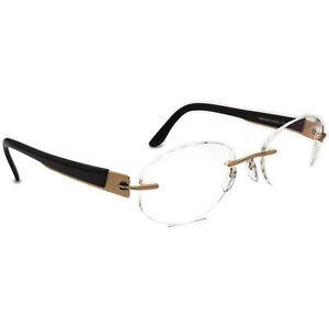 Silhouette Eyeglasses 7694 30 6051 Titan Gold/Brown Rimless Austria 50[]19 135