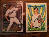Walker Buehler 2015 *1st Bowman Chrome* RC + 2018 Topps Heritage LA Dodgers ACE