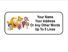 30 Bubble Guppies Personalized Address Labels
