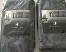 Lot of 2 : Hotel Collection Modern JACQURD BLUE 2 Standard Pillow Shams