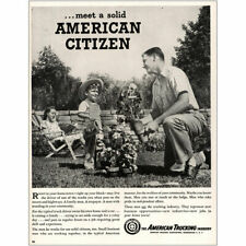 1947 American Trucking: Solid American Citizen Vintage Print Ad
