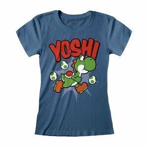Women's Nintendo Super Mario Yoshi T-Shirt - Retro Gamer Tee