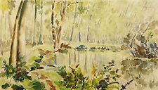 Paysage postimpressionniste / Vue de la Foret de Fontainebleau Barbizon