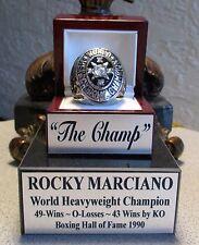 ROCKY MARCIANO Boxing Heavyweight Champion HOF Ring & Custom Display un signed