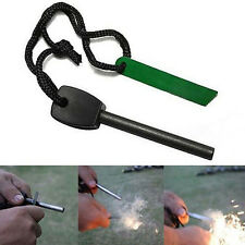 Survival Magnesium Flint And Steel Striker Fire Starter Lighter Stick Camping
