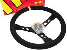 MOMO Steering Wheel - Mod 07 (350mm/70mm Dish/Suede/Black Spoke)