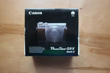CANON PowerShot G9 X Mark II Digitalkamera Silber/Braun Zustand: sehr gut