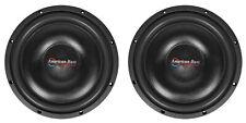 "2 American Bass SL-124 12"" 600 Watt Shallow Slim Car Subwoofers 4-ohm Subs SL124"