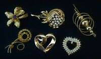 Vintage Lot Brooches~Pins Rhinestones Modernist Great Collection