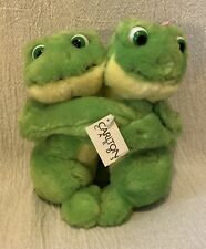 "7"" Carlton Cards AGC Incorporated Plush Hugging Frogs Tag"