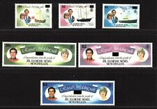 ZES 1983 Zil Eloigne Sesel Stamps Surcharged Royal Wedding Set Price Charles