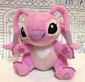 NWOT DISNEY Store LILO & Stitch Angel Pink Hearts Movie Alien PLUSH Toy Doll New