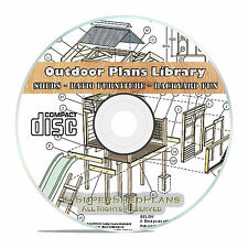 Cool Outdoor Private Cabin Building Plans, Farming Plans Backyard Patio Plans CD