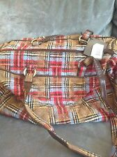 VERA BRADLEY CARRY ON CARGO PATCHWORK PLAID BAG - NEW WITH TAGS (RARE)