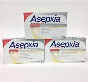 3 ASEPXIA SOAP NEUTRAL BAR Gentle Care 4.OZ EXP 01/23