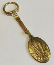 Vintage NASA Space Shuttle Keychain Gold Tone Two Different Sides Rocket
