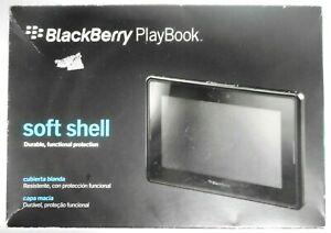 BlackBerry Playbook Soft Shell Black Translucent Gel Skin New