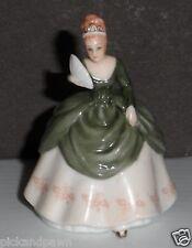 "Tiny Vintage 2004 Royal Doulton Porcelain ""Soiree"" Dancing Ladies Figurine M-215"