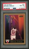 Michael Jordan Chicago Bulls 1990 Skybox Basketball Card #41 Graded PSA 8