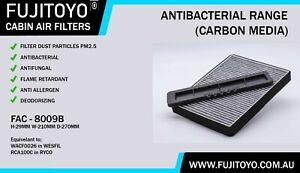 *FUJITOYO*CARBON Cabin Air Filter ( WACF0026 / RCA100C ) Suit FORD FAC-8009B