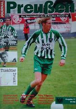 Programm 1997/98 SC Preußen Münster - FC Homburg