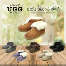 Premium Wool UGG Unisex Classic Ankle Short/Medium Slipper/Scuff