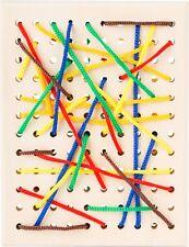 Fädelbrett aus Holz Fädelspiel Motorik Schnüre Fädeln Spielzeug für Kinder Neu