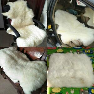 Real Natural Sheepskin Rug Cushion Fluffy Fur Rug Soft Fashion Mat Carpets Ivory