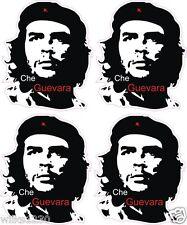 4 Che Guevara Silhouette Stickers Ordinateur Portable Voiture Van Bus Camion Mini Autocollants DUB Vélo