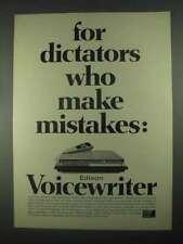 1967 Edison Voicewriter Ad - For Dictators
