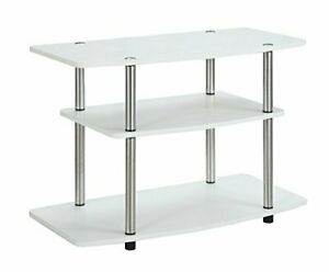 Convenience Concepts Designs2Go 3-Tier TV Stand White