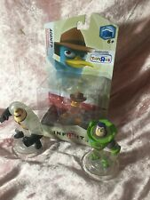Disney Infinity Lot Crystal Characters Mr Incredible, Agent P, Buzz Lightyear