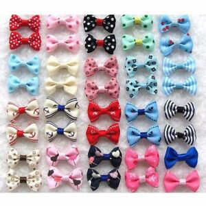21pcs Pet Dog Cat Hair Bows Bowknot Clips Puppy Grooming Headdress
