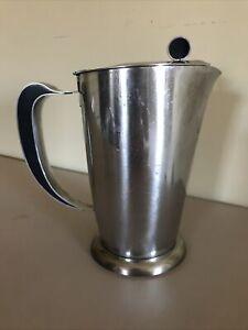 VINTAGE GENSE STAINLESS STEEL TEA Coffee Pitcher Sweden BAKELITE MID CENTURY