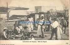 URUGUAY COSTUMBRES DEL URUGUAY BAILE DE NEGROS ED. MARCHETTI 73