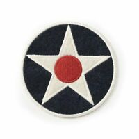 "3"" U.S. Roundel Felt Patch, WWII Aviation, Vintage Aircraft, Pilot Gift PAT-0136"