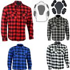 Motorcycle Cotton Flannel Lumberjack shirt lined DuPont? KEVLAR® with CE armour