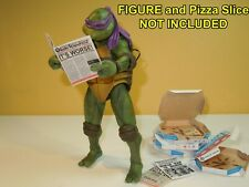 4 Pizza Boxes and 3 Newspapers for Neca 7 inch Teenage Mutant Ninja Turtles TMNT