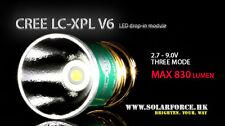 Solarforce Cree XP-L V6 830 Max Lumen 3 Mode Led Bulb 2.7V-9V for Surefire 6P G2