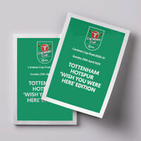 Manchester City v Tottenham Spurs 2021 Carabao League Cup Final - PERSONALISED