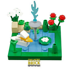 LEGO Garden pond - with Fountain, Plants, Duck and Frog! All NEW pieces