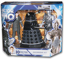 "Doctor Who 5"" Doomsday 3 Action Figure Set, 10th Dr, Dalek Sec, Cyberman"